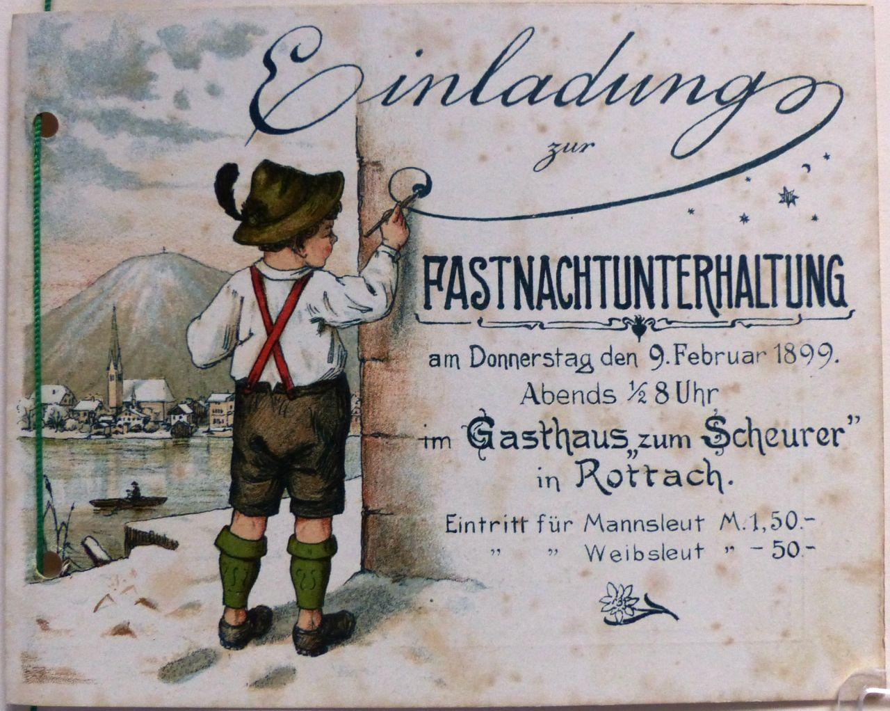 Fastnachts-Unterhaltung 1889 - 1899 - Die Wallberger - Verein zur ...